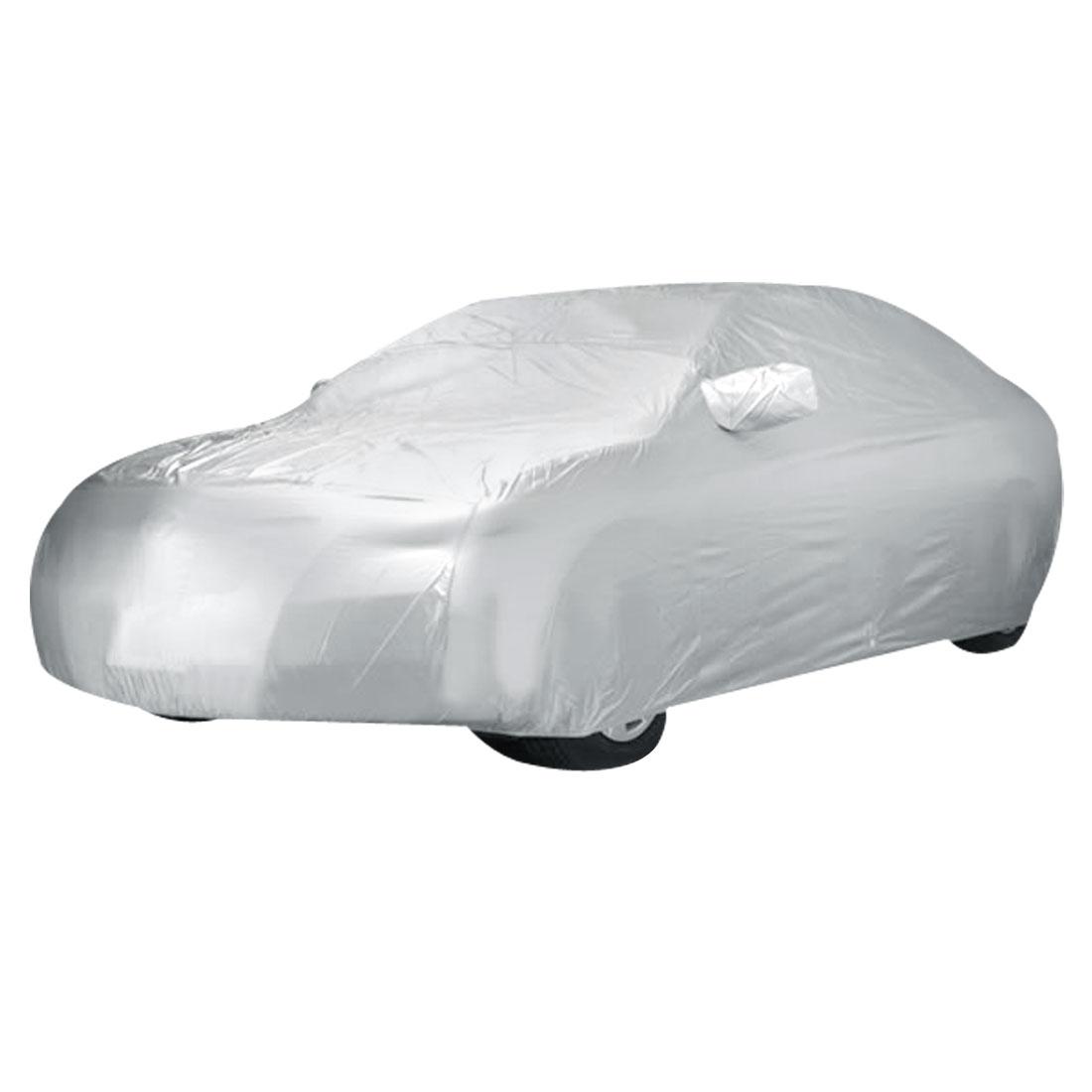 Outdoor UV Sun Anti Dust Rain Snow Waterproof Gray Saloon Sedan Car Cover
