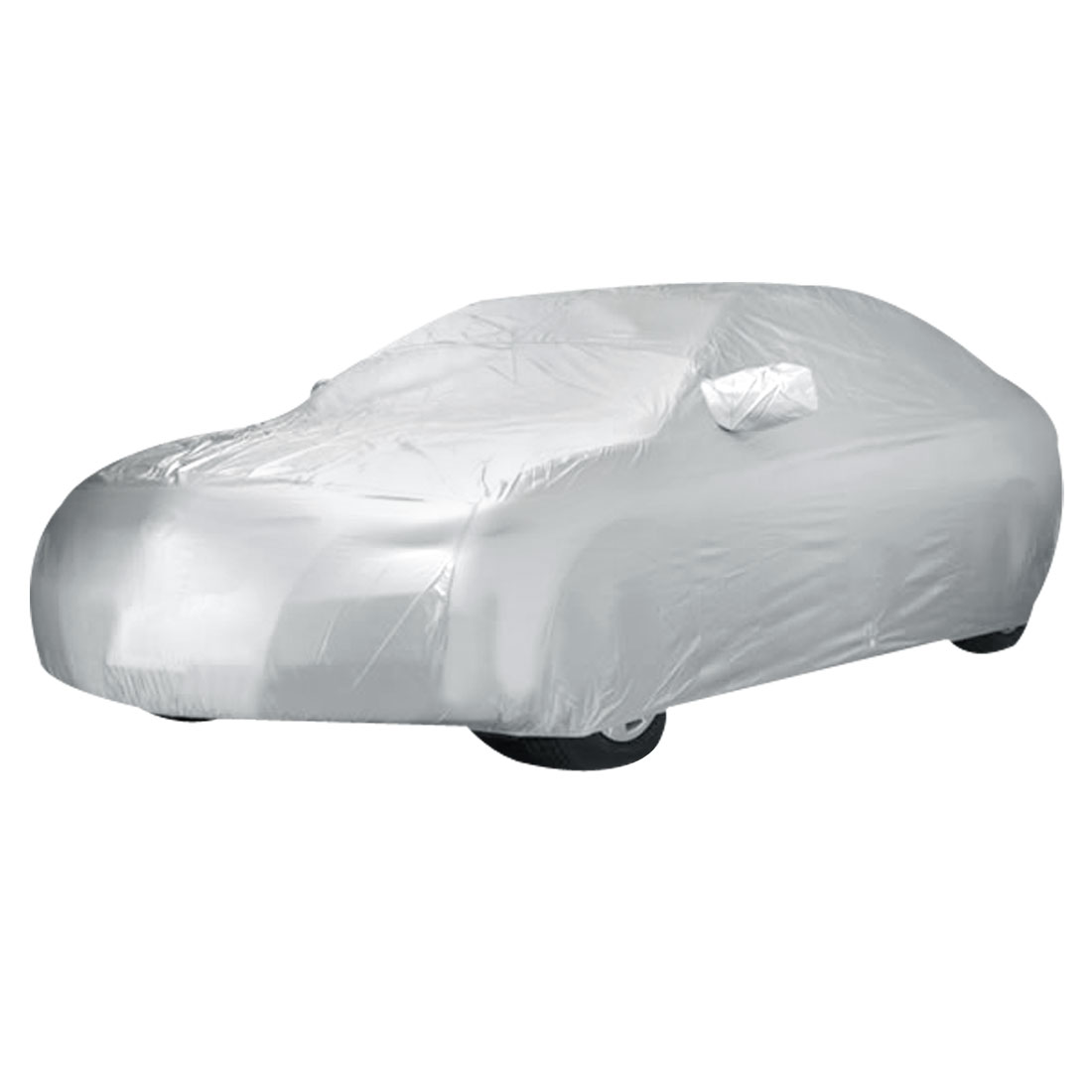 Outdoor Anti Dust Rain Snow Waterproof Gray Saloon Sedan Car Cover Size XXL 5350*2000*1600 (L*W*H)