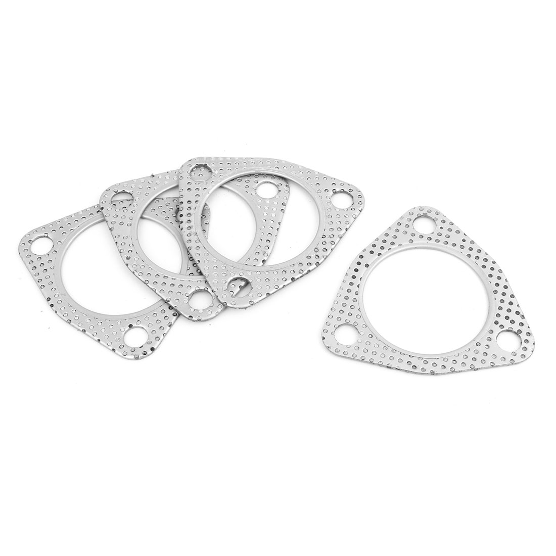 Auto Car Engine Exhaust Pipe Silencer Gasket Seal Silver Tone Replacement 61m Inner Dia 4 Pcs