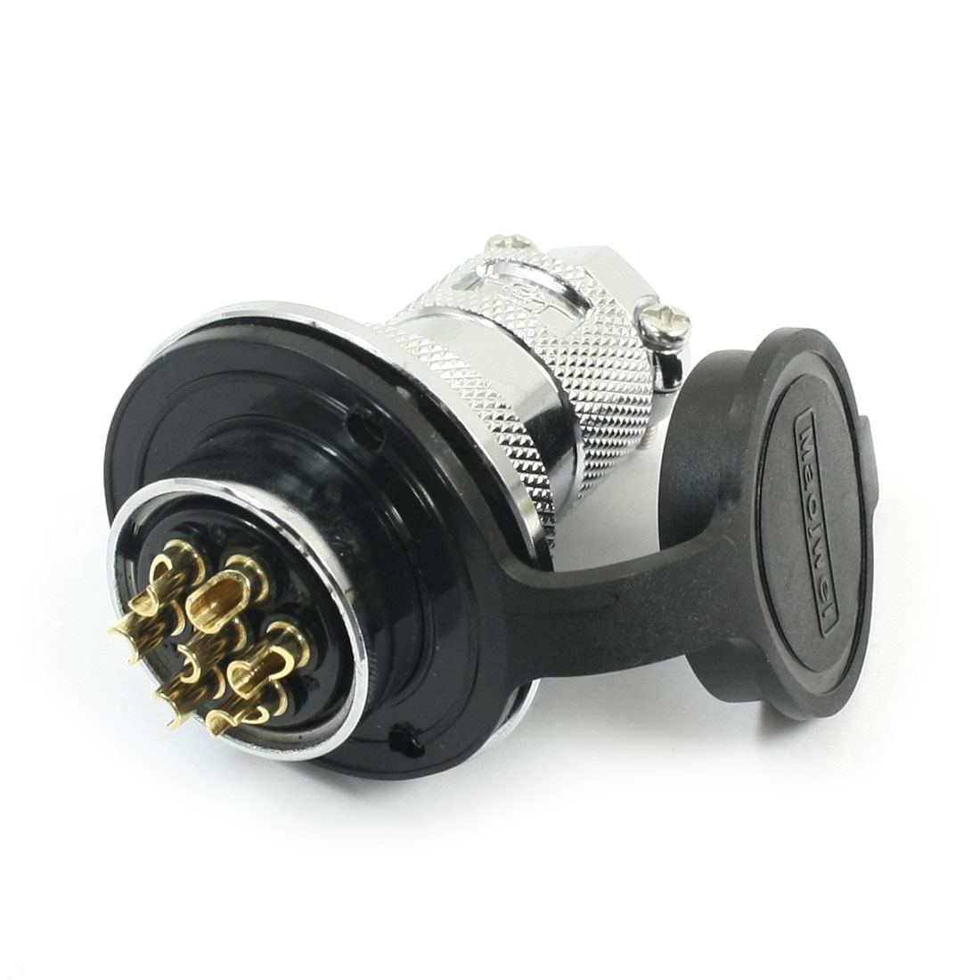 GX25-7 25mm Thread Waterproof 7 Pin Screw Mounting Fixing Metal Aviation Socket Connector Adapter 220V 10A