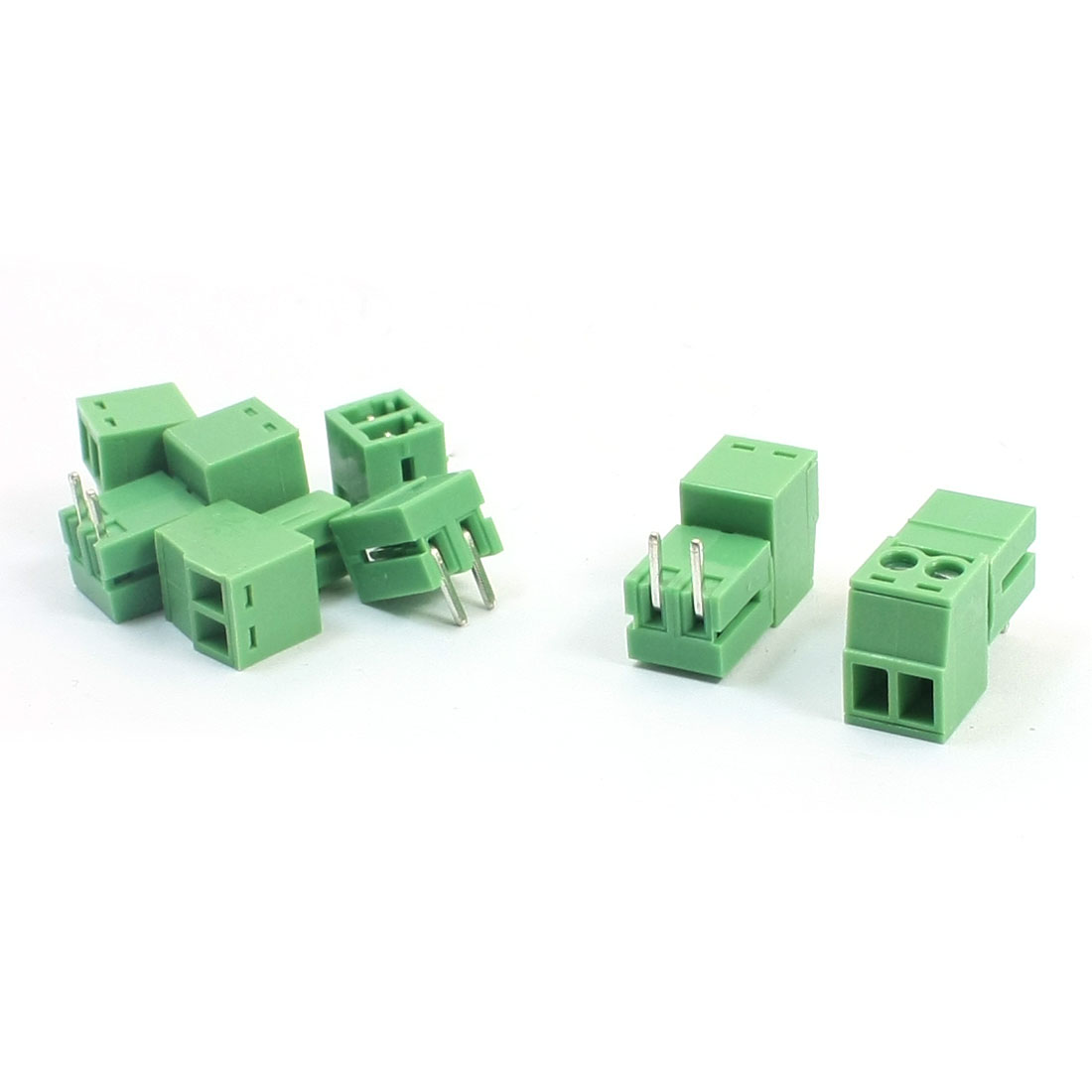 5Pcs 3.5mm 2-Position Pluggable in Type Through Hole Mounting PCB Screw Terminal Barrier Block Connector