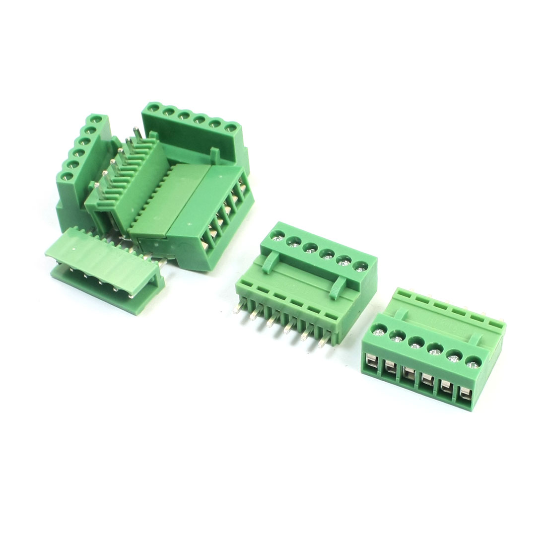 3.96mm Pitch Pluggable Type Through Hole Mounting PCB Screw Terminal Barrier Block Connector 14-26AWG 5Pcs