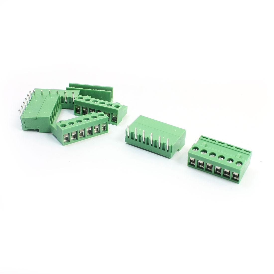 5 Pcs AC300V 10A 5.08mm Pitch 6-Pin Pluggable Type Through Hole PCB Terminal Barrier Block Connector for 14-26AWG Wire