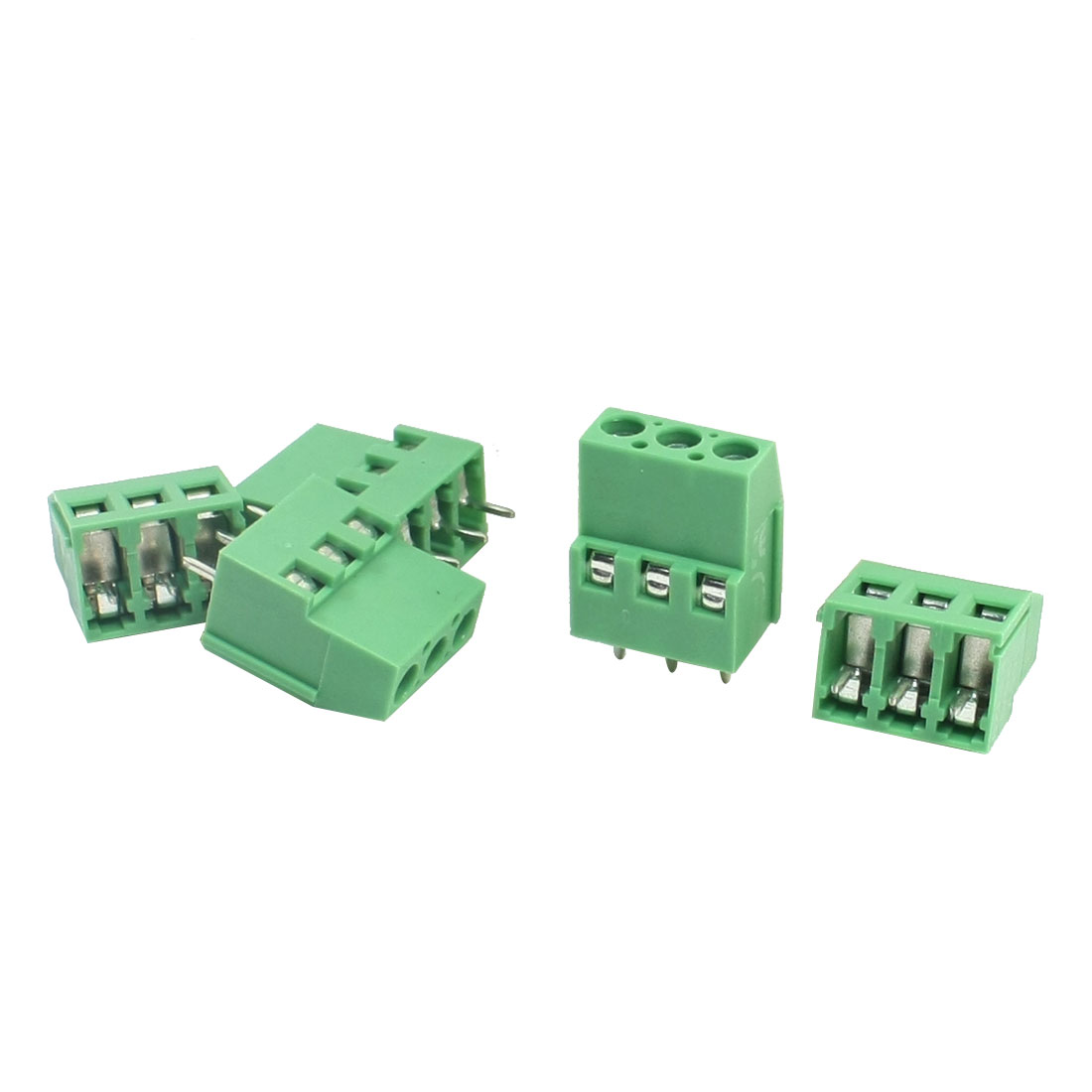 KF129 300V 25A 5mm Through Hole Screw Terminal Barrier Block Connector 5 Pcs