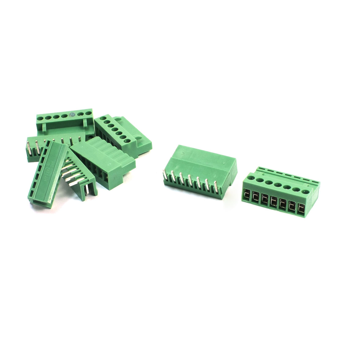 5Pcs AC300V 10A 3.96mm Pitch 7Pin Through Hole Pluggable Type PCB Screw Terminal Barrier Block Connector for 14-26AWG Wire