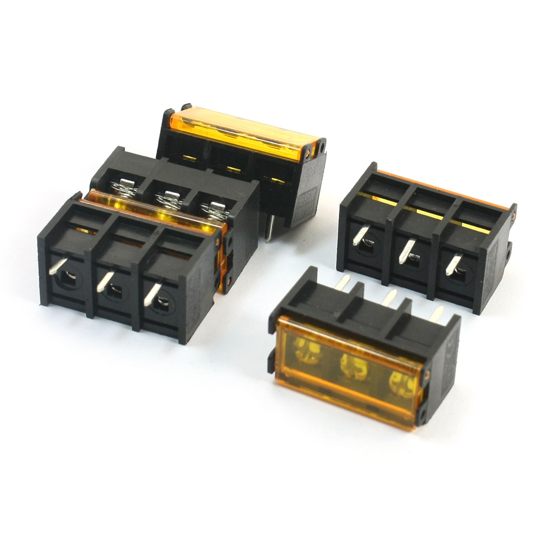 300V 30A 9.5mm Pitch 3-Position PCB Mounting Pluggable Type Screw Terminal Barrier Block Connector 5 Pcs