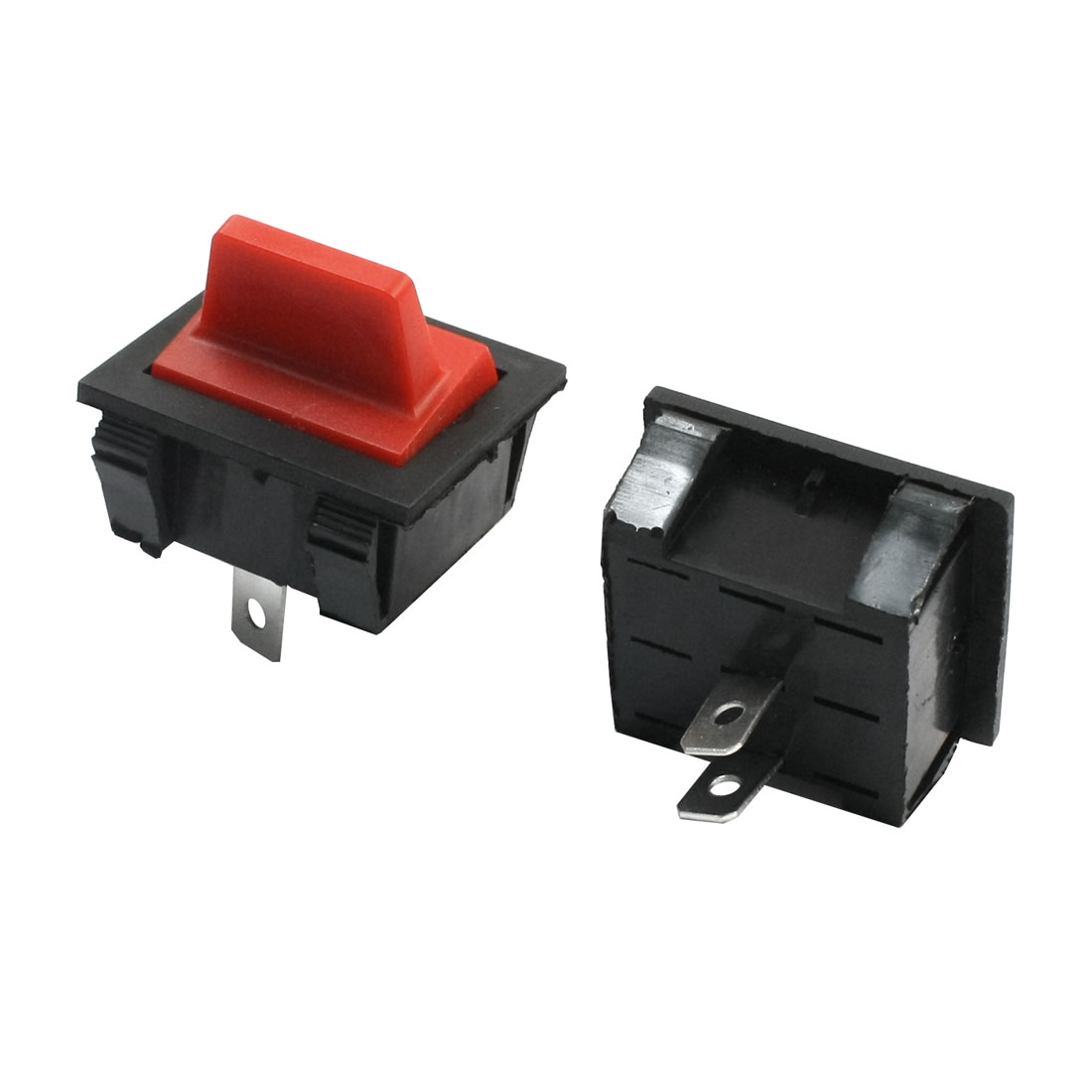 Electric Generator Part SPST 2-Position ON-OFF Snap in Mount Red Black Plastic Boat Rocker Switch AC250V 15A AC125V 20A2Pcs
