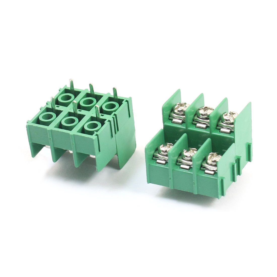 2Pcs KF7.62HL 300V 3A 7.62mm Spacing 6Pin Through Hole Plug in PCB Mounting Screw Terminal Barrier Block Connector