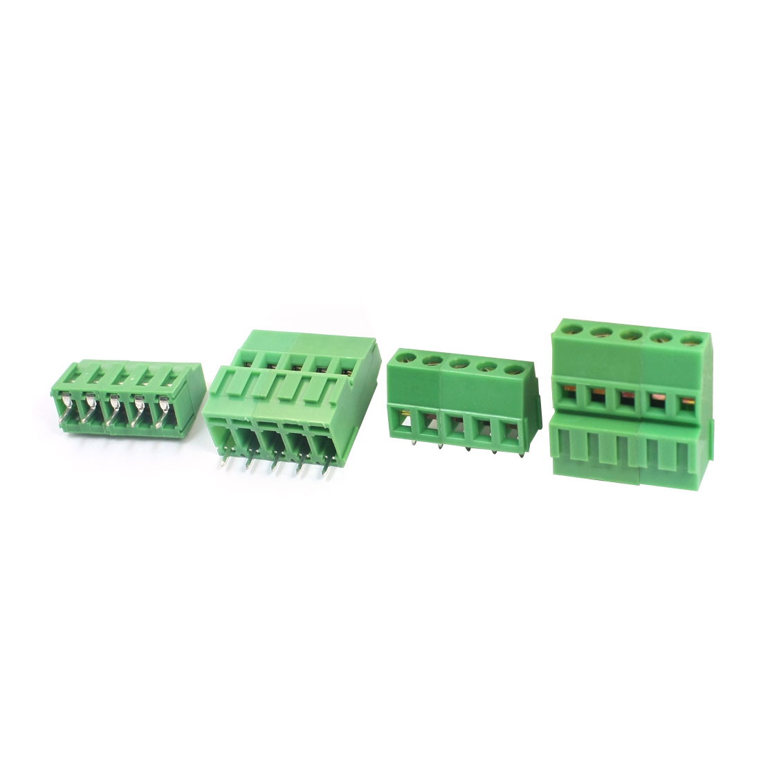 2Pcs 5mm Spacing 24-12AWG 10Pin 10-Position PCB Mounting Screw Type Terminal Barrier Block Connector