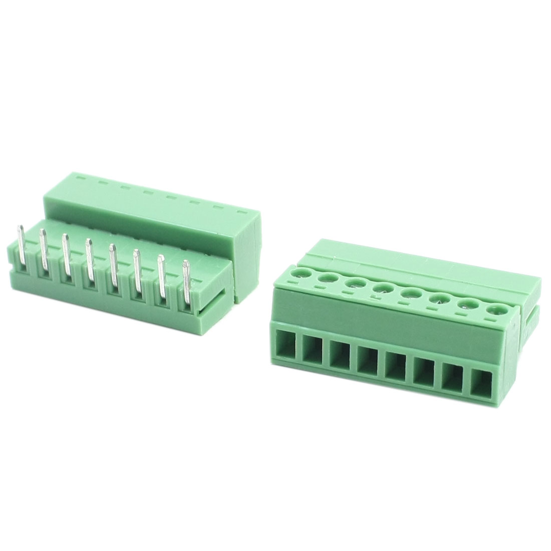 AC 300V 8A 3.81mm Pitch 8 Pins 22-16AWG Connect Pluggable Type Through Hole Mounting PCB Terminal Block Connnector 2Pcs