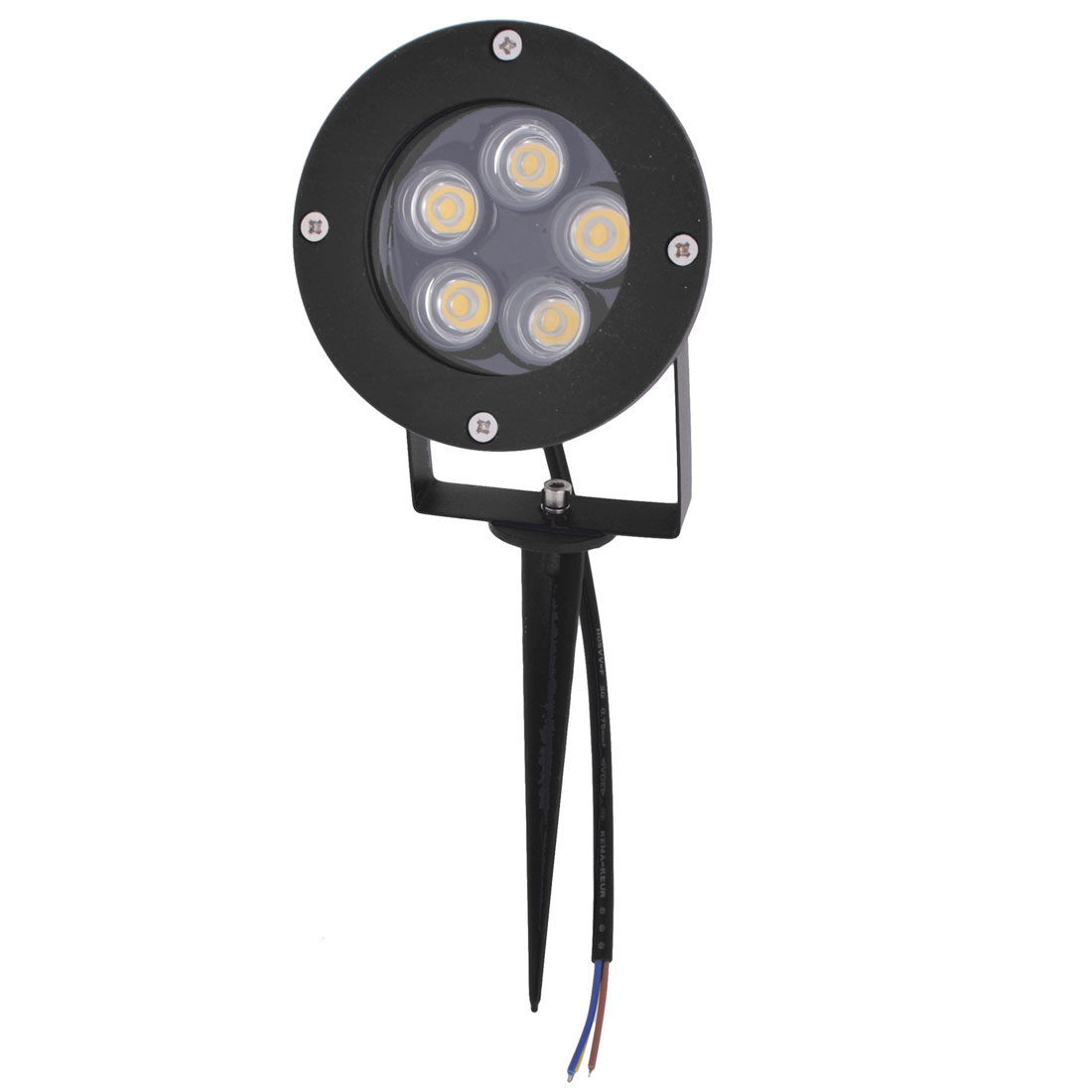 AC85-265V 10W 5-LEDs 500-550LM Warm White LED Light Garden Spotlight Lamp