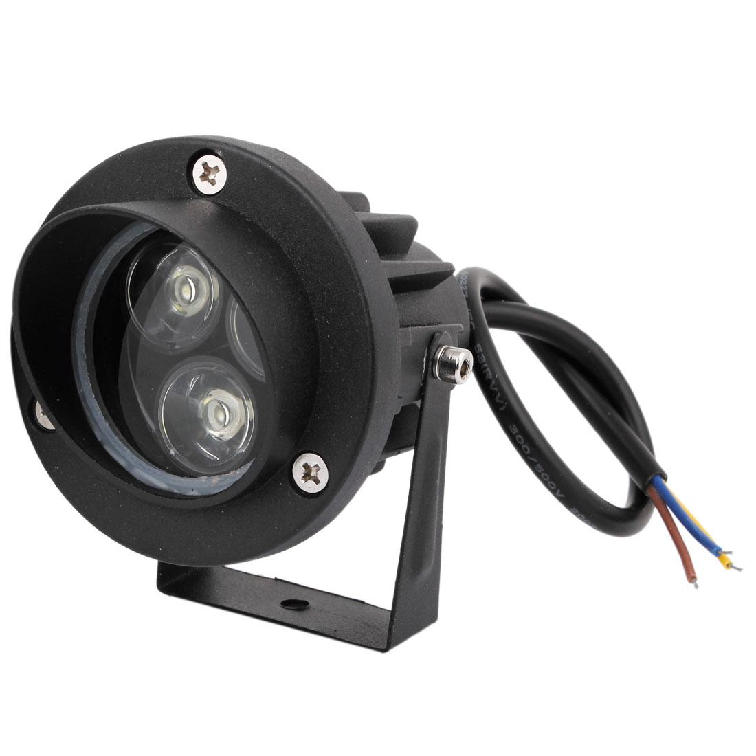 AC 85-265V 6W 3x2W High Power White Light Aluminum Housing Garden Lawn Spotlight Lamp