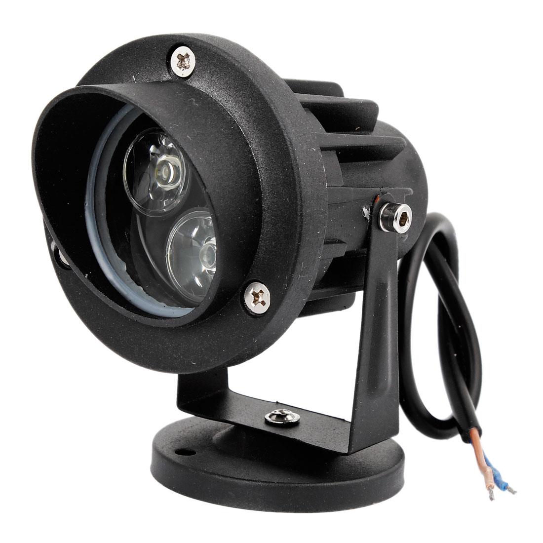 Black Shell 6W 3x2W White LED Ceiling Light Downlight Spotlight 300-330LM 12V