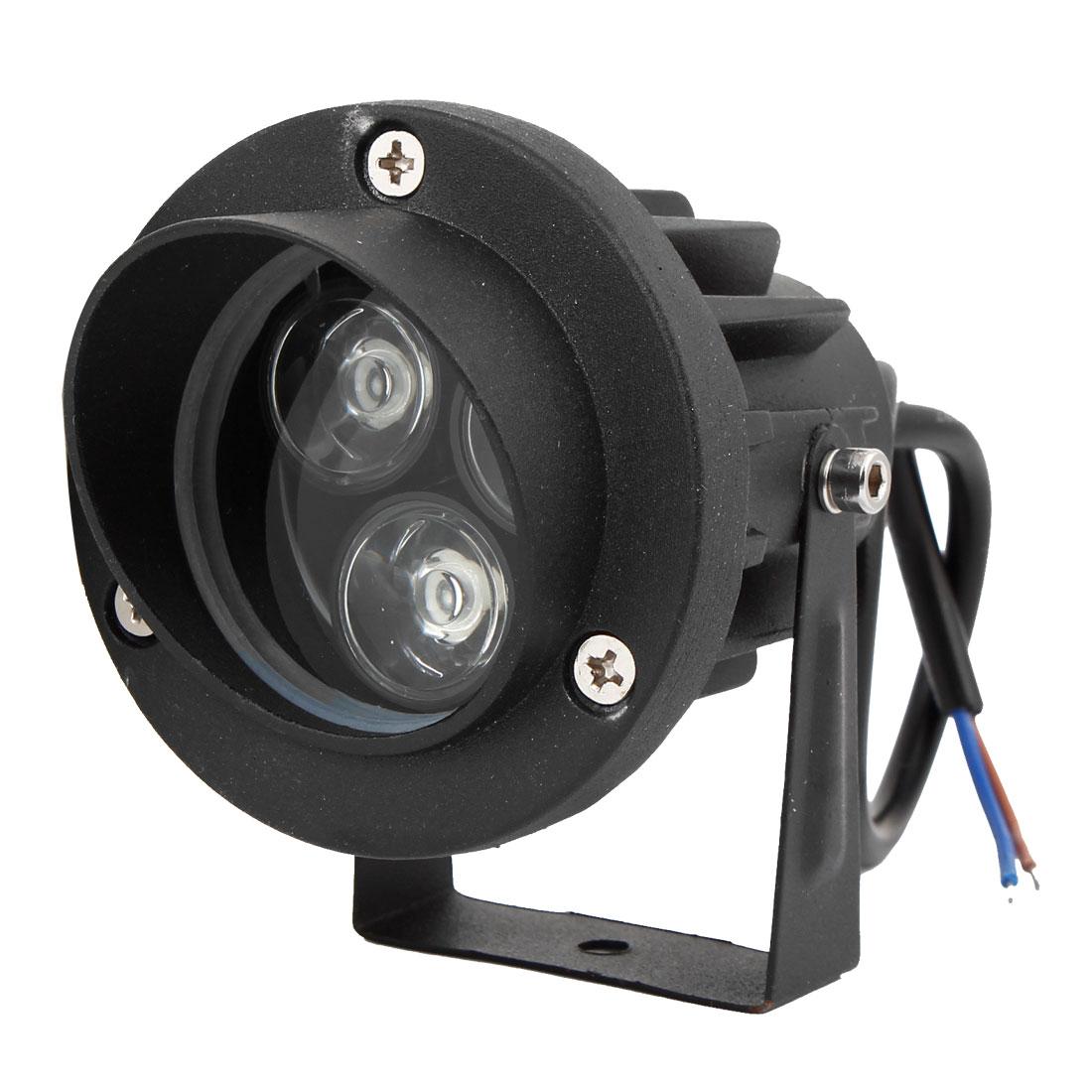 12V 6W 3x2W High Power White Light Aluminum Housing Garden Lawn Spotlight Lamp