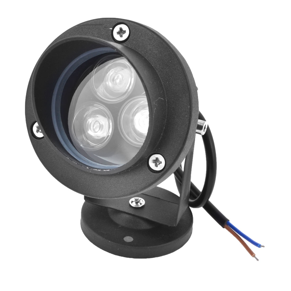 12V 6W Blue 3-LEDs Light Outdoor Yard Lawn Lamp Spotlight