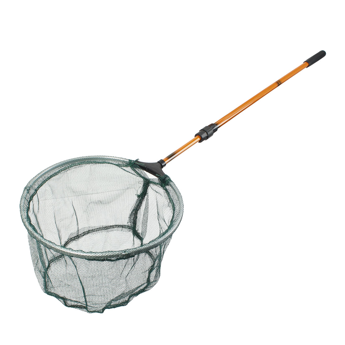 "10"" Mouth Diameter Plastic Coated Handle Green Dual Folded Fish Landing Net"