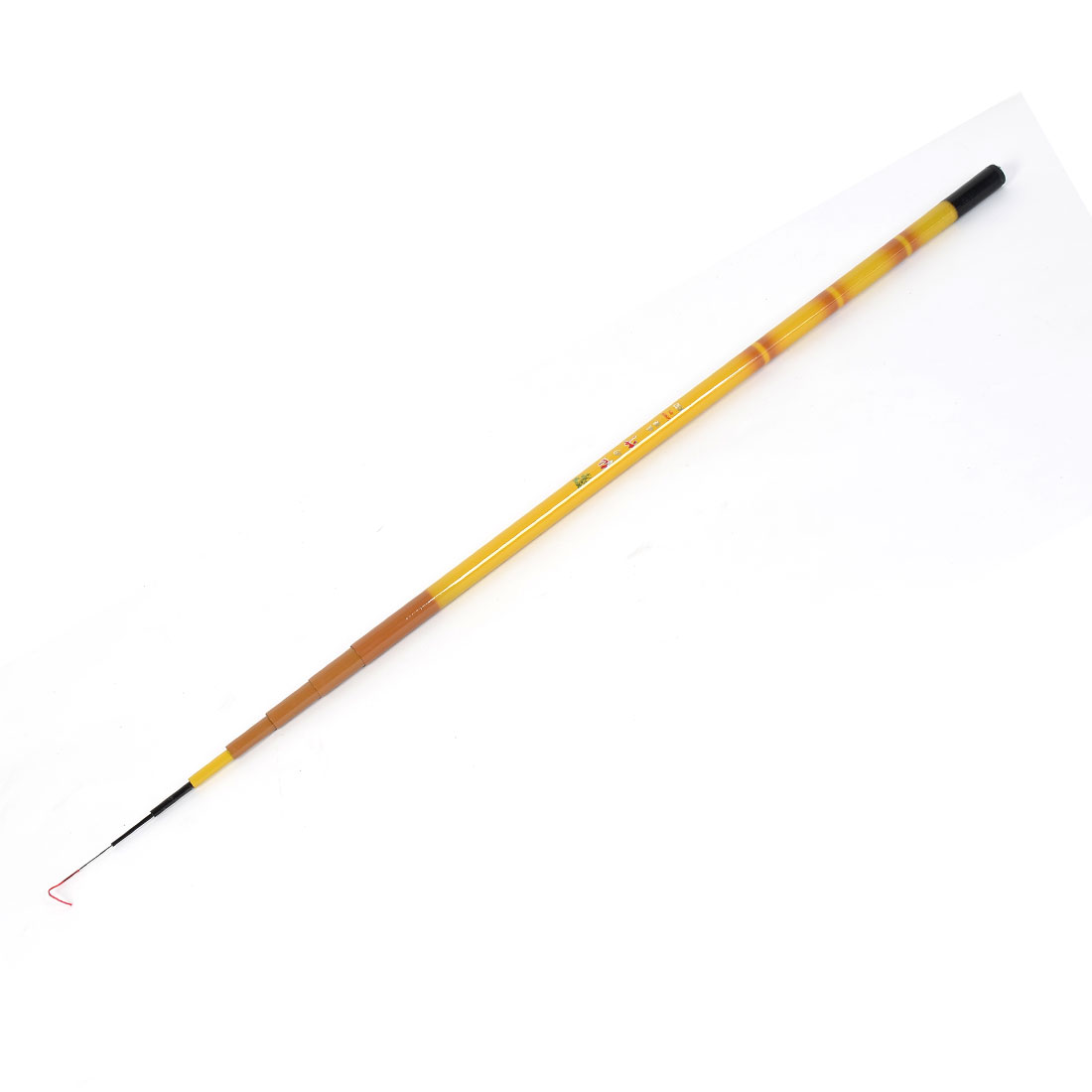 3.9M 13 Ft 8 Sections Carbon Fiber Telescopic Fishing Rod Tool Yellow