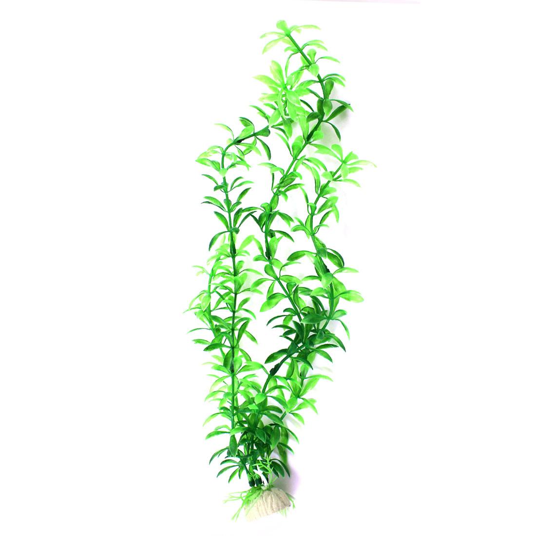 "2PCS 14.6"" High Green Plastic Vivid Plants Grass Ornament for Fish Tank"