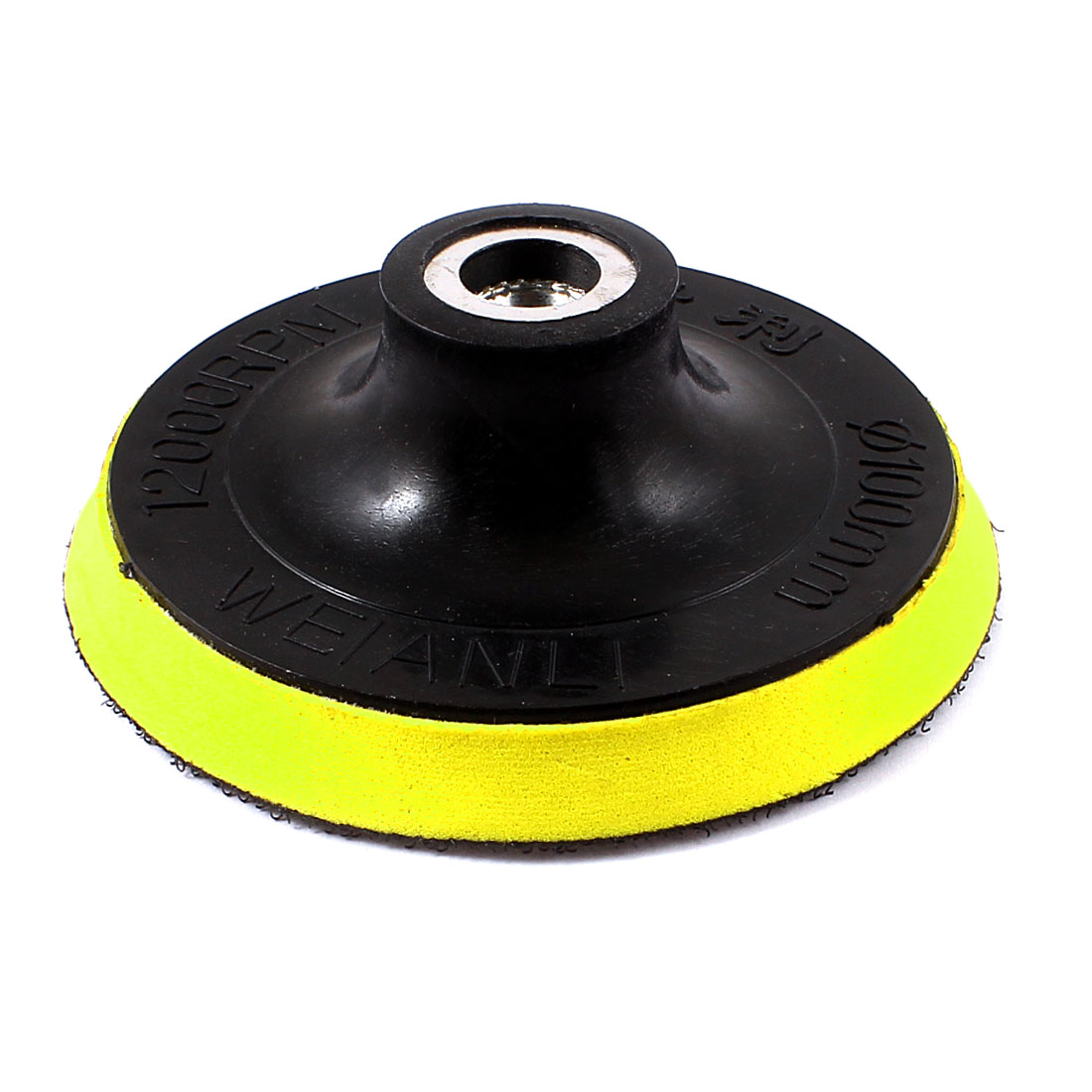 "0.55"" Top Hole Dia Buffer Polisher Polishing Face Sanding Pad Black Yellow"