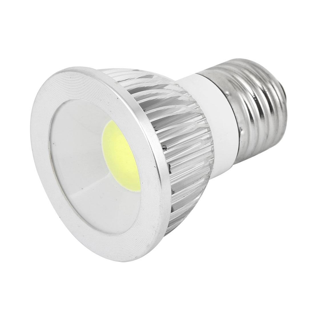 AC 85-265V 6W E27 Non-dimmable Cool White Light COB LED Downlight Spotlight