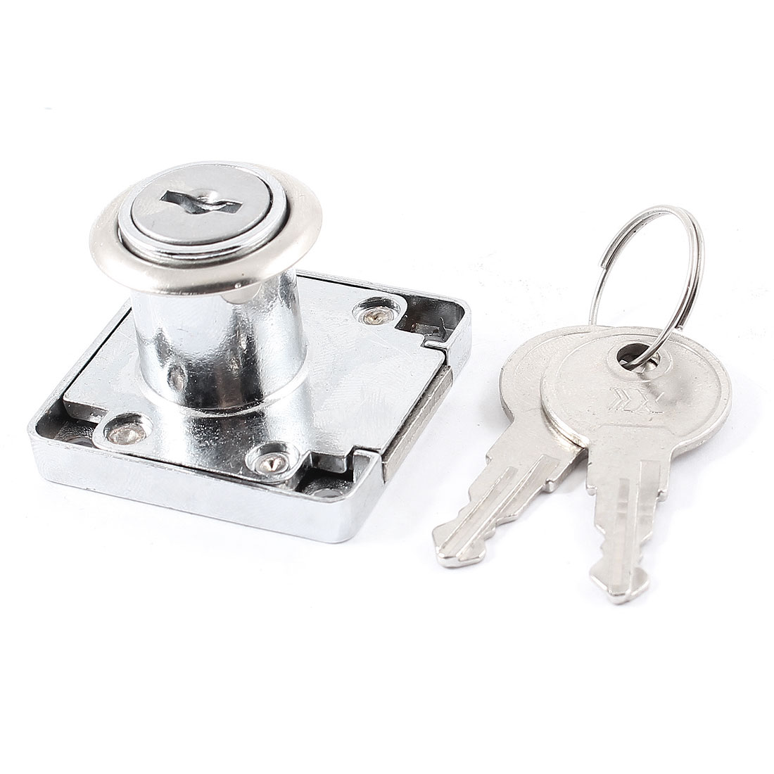 18mmx22mm Cylinder 40mmx40mm Base Keys Turning 180 Degrees Metal Drawer Locking