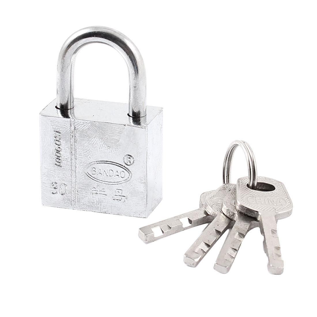 Shop Door Cabinet Rectangle 30mm Long Security Pad Lock Keys Set