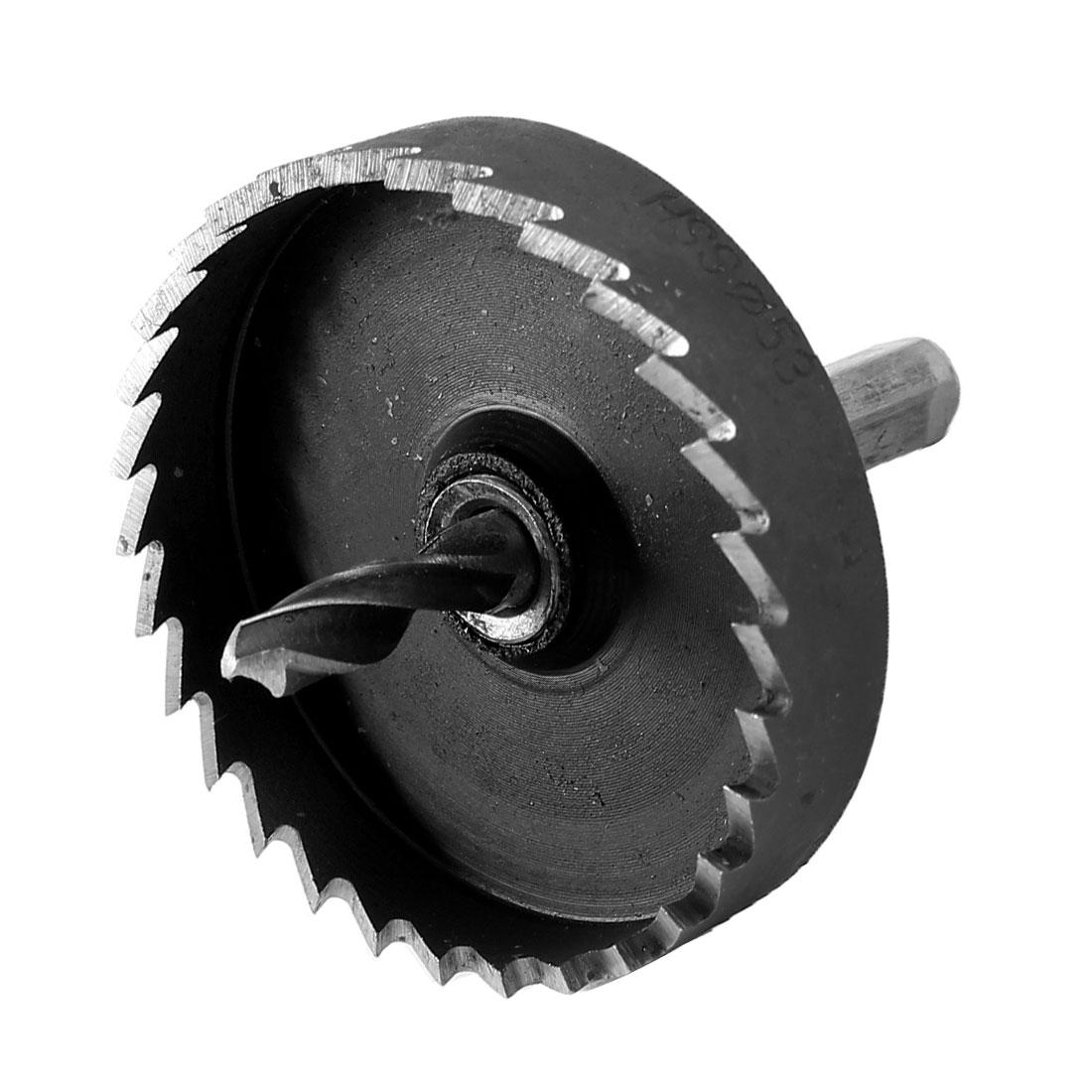 Triangle Shank 6mm Twist Drill Bit 53mm Dia.HSS Iron Cutting Hole Saw