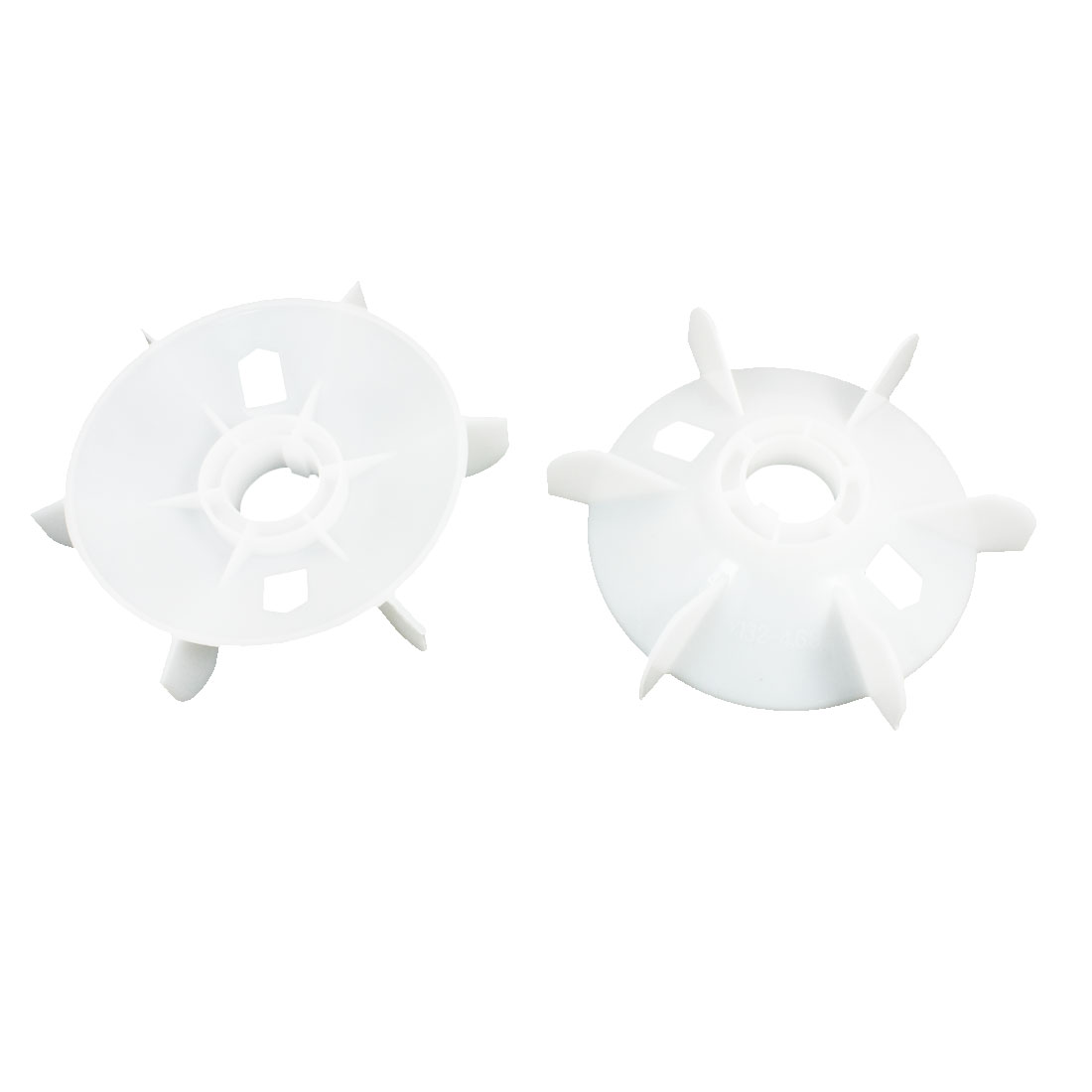 2Pcs Y132-4.6.8 White Plastic 6- Vanes 215mm Outer Dia 38mm Inner Diameter Fan Vane for for 7.5KW Motor