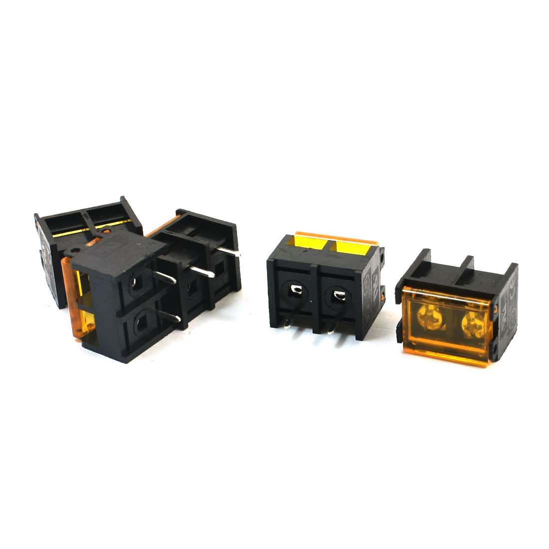 300V 30A 9.5mm Pitch 2-Position PCB Mounting Pluggable Type Screw Terminal Barrier Block Connector 5 Pcs