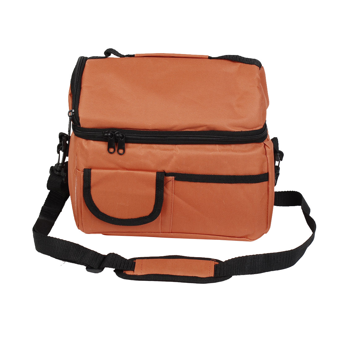 Polyester Lunch Box Cooler Bag Liner Shoulder Strap Travel Camouflage Tote Orange