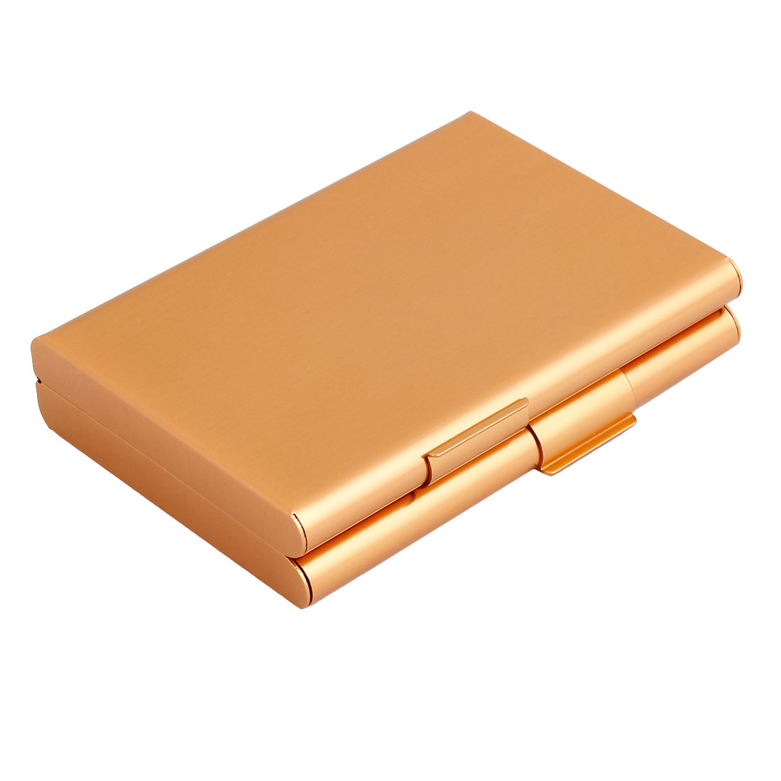 Gold Tone Aluminum 2 Compartments Cigarette Cigar Case Box Holder