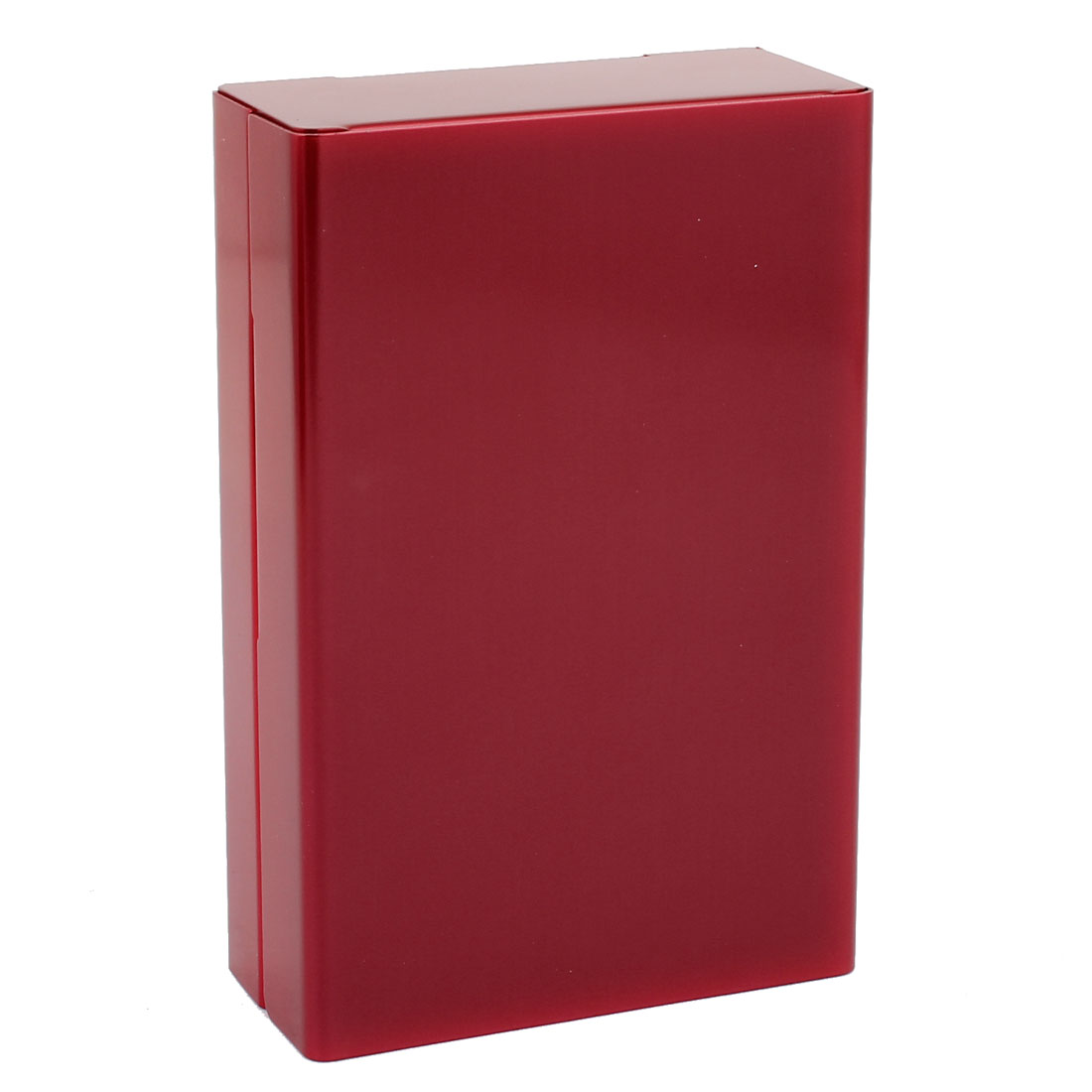 Slide Type Red Aluminum Rectangle Shape Cigarette Cigar Case Box