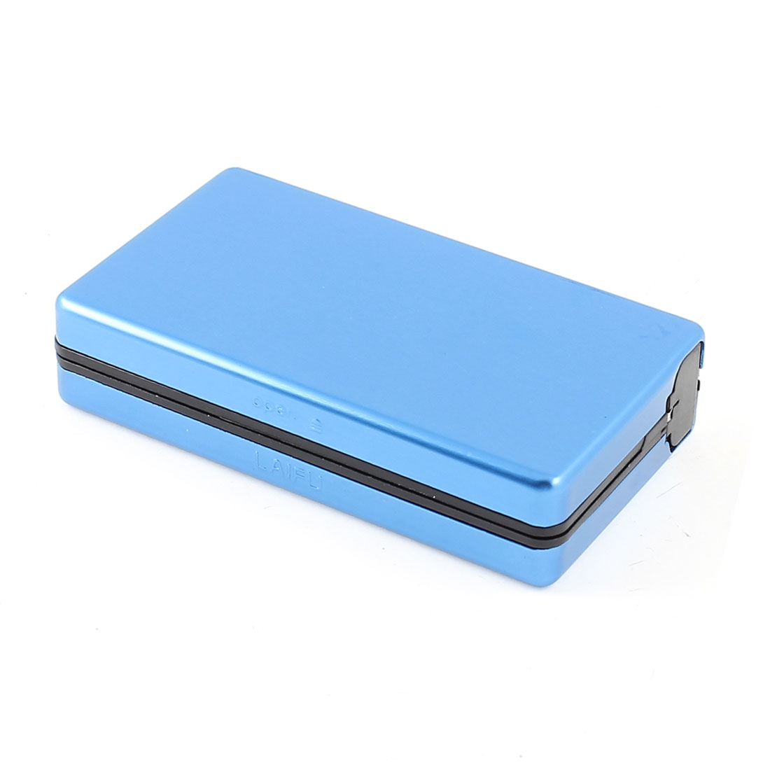 Blue Aluminum Rectangular 9cm x 5cm x 2cm Full Pack 10 Pieces Cigarette Case Holder