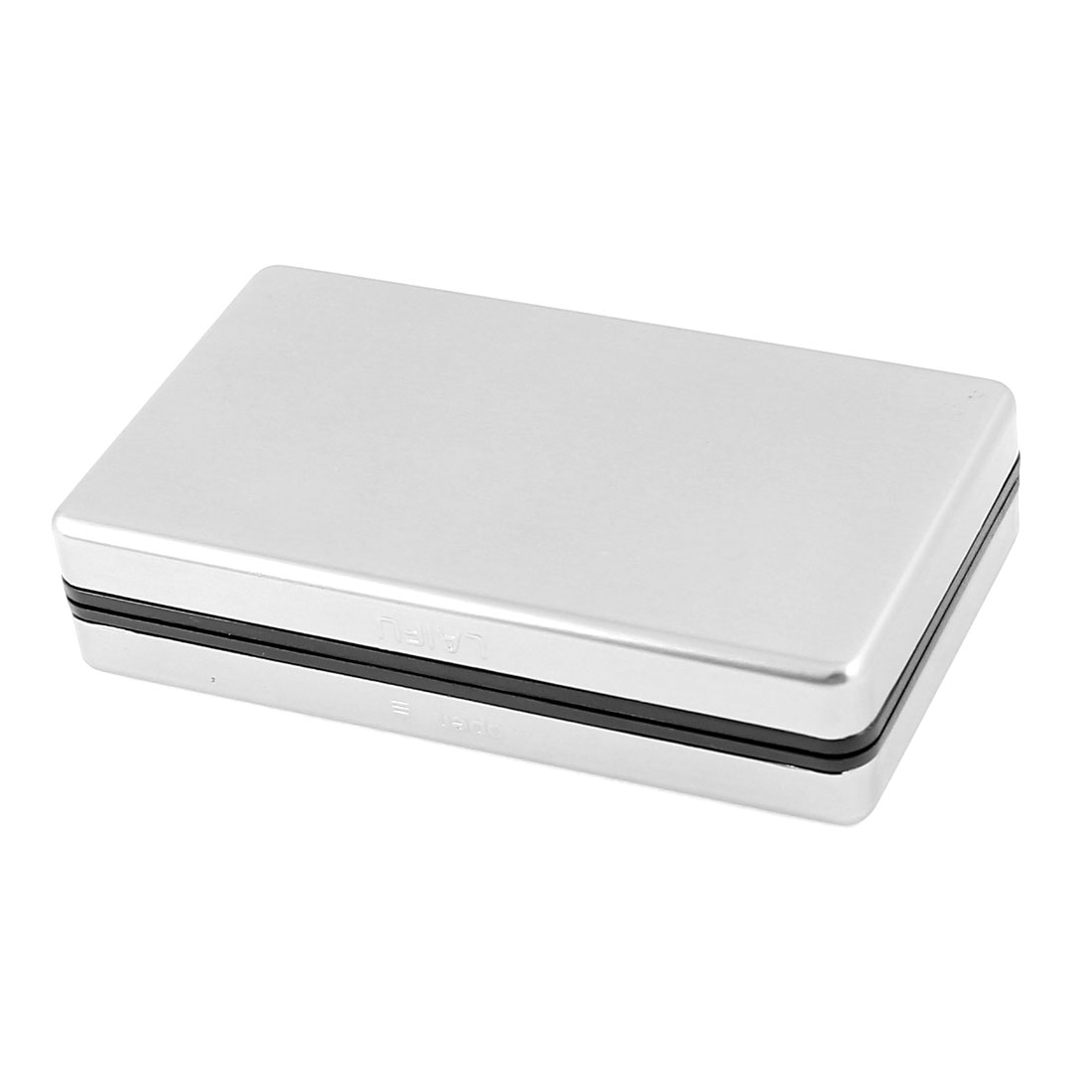 Silver Tone Aluminum Rectangular 9cm x 5cm x 2cm Full Pack 10 Pieces Cigarette Case Holder