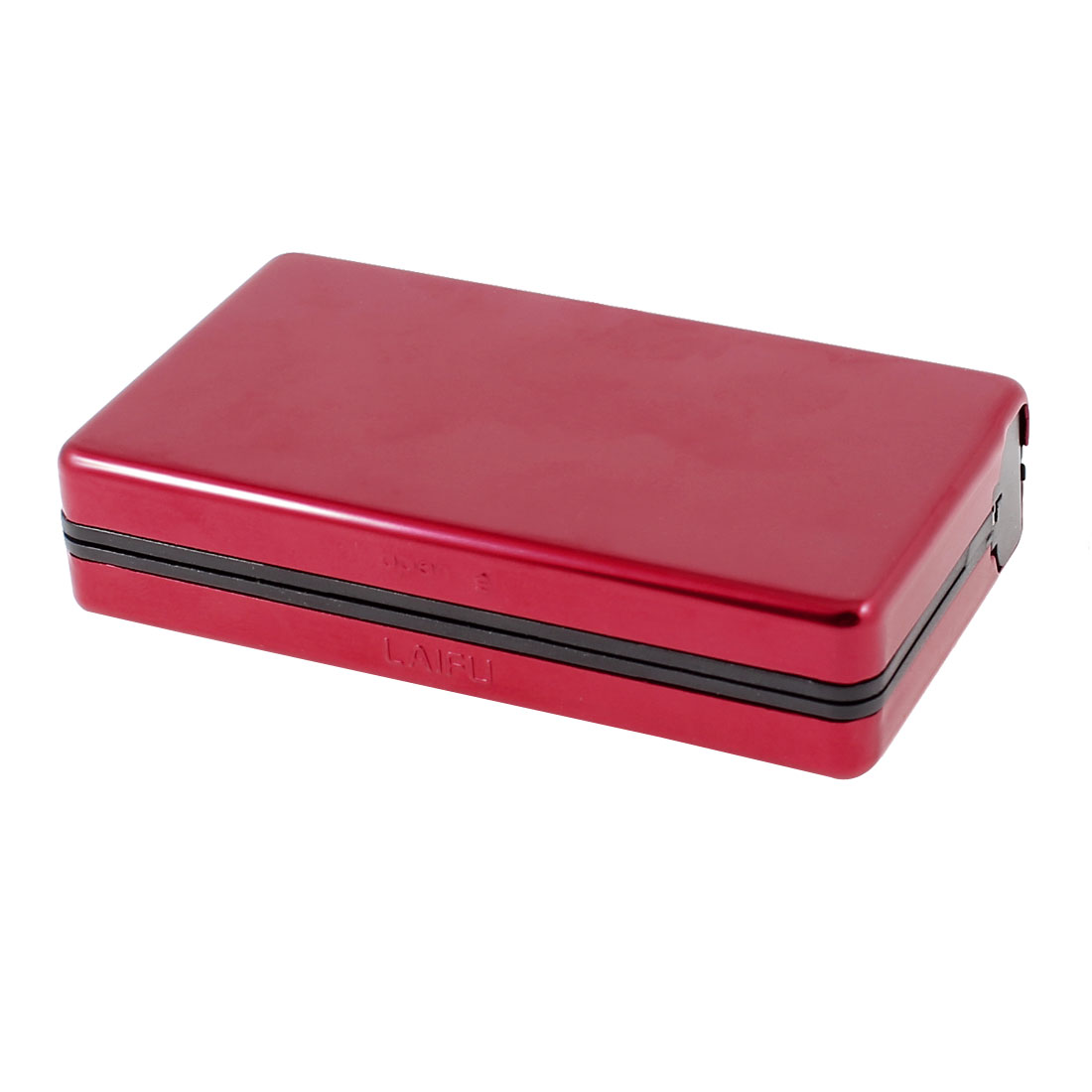 Dark Red Aluminum Rectangular Full Pack 10 Pieces Cigarette Case Holder