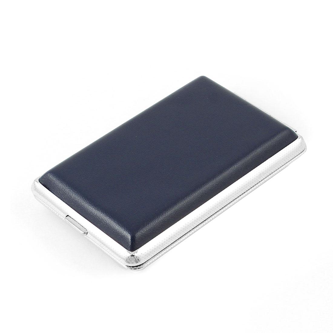 Man Steel Blue 12pcs Capacity Dual Side Cigarette Case Container Box