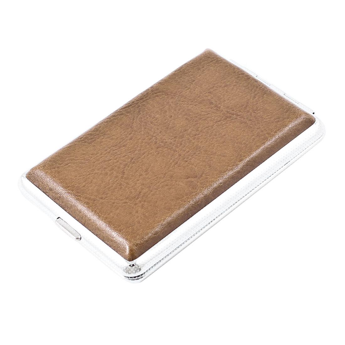 Men Portable Black 2 Sides Rectangle Shape Cigarette Case Holder Box
