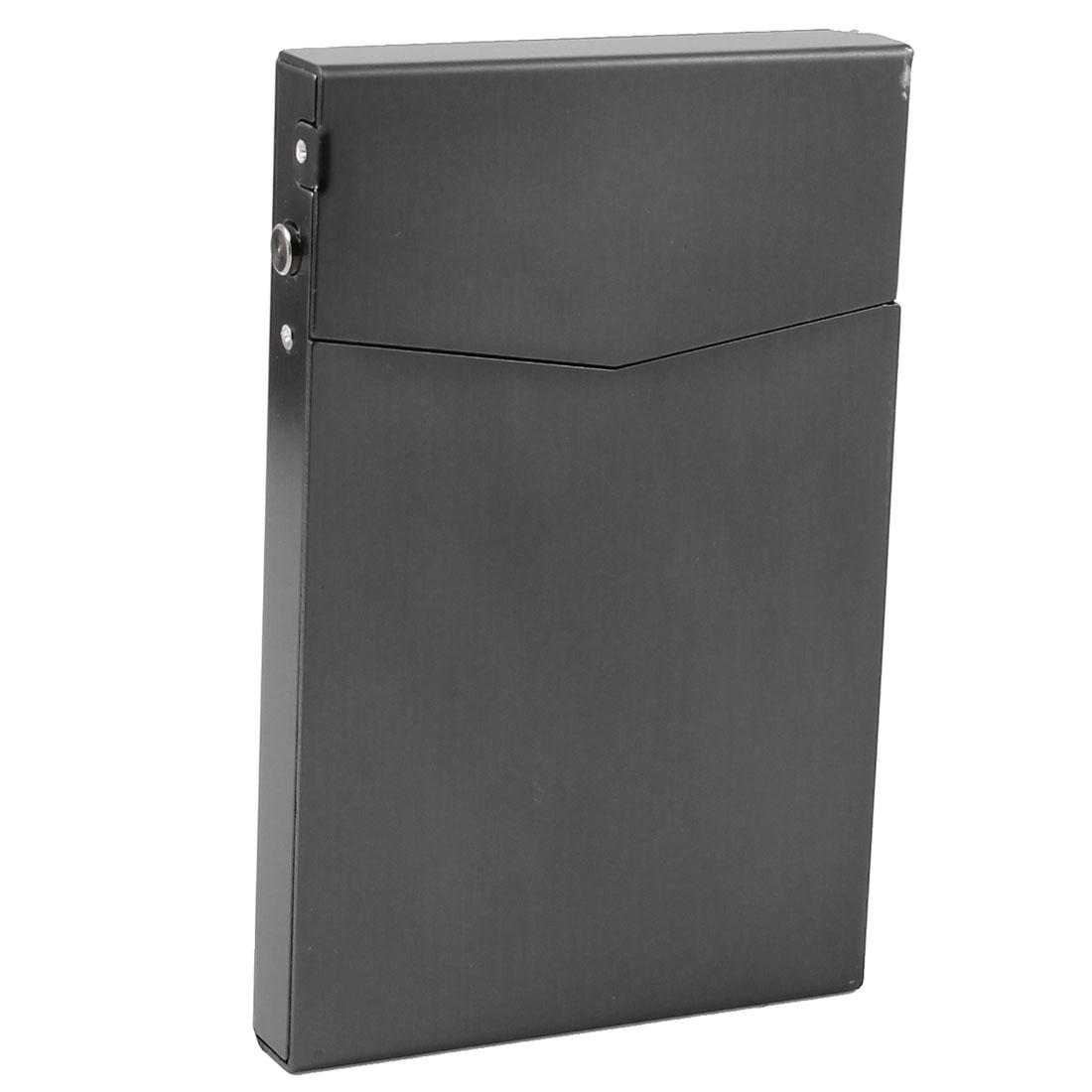 Magnetic Closure Silver Gray Aluminum 90mmx60mmx10mm Full Pack 7 Pcs Cigarette Case Box Holder