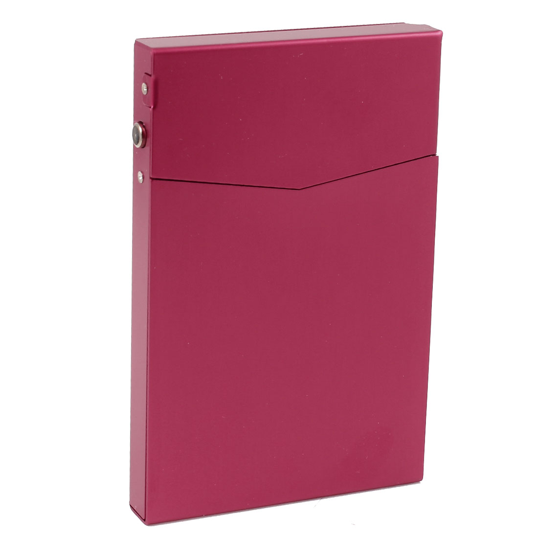 Magnetic Closure Fuchsia Aluminum 90mmx60mmx10mm Hold 7 Pcs Cigarette Case Box Holder