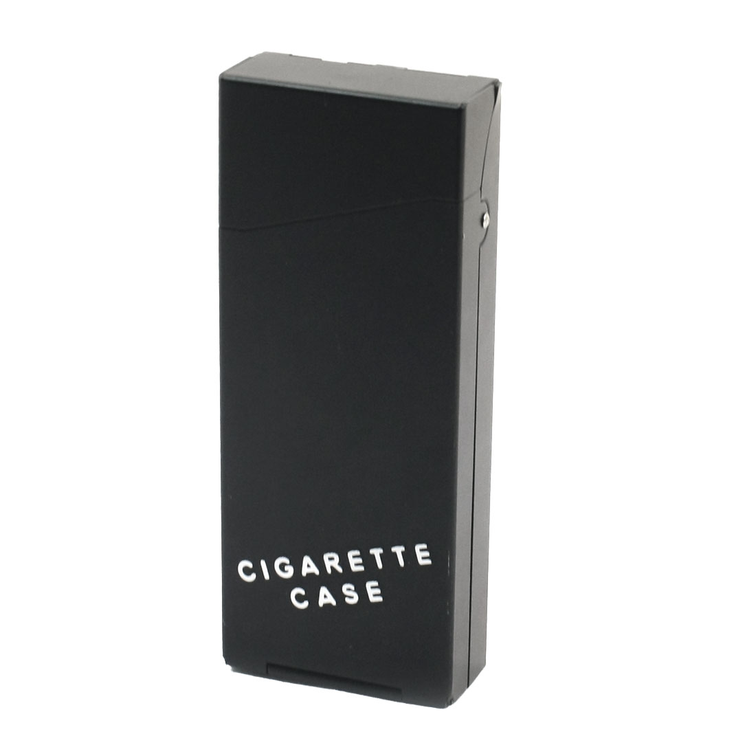Black Metal Rectangular 10.8cm x 4.3cm x 1.8cm Spring Loaded Hinge Case Box Container Holder for 20 Pcs Cigarette