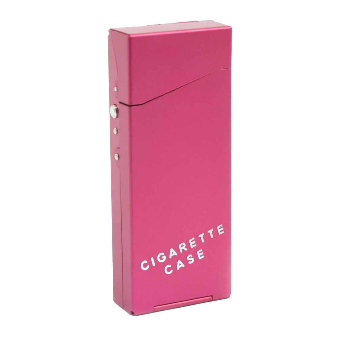 Fuchsia Metal Rectangular 10.8cm x 4.3cm x 1.8cm Spring Loaded Hinge Case Box Container Holder for 20pcs Cigarette