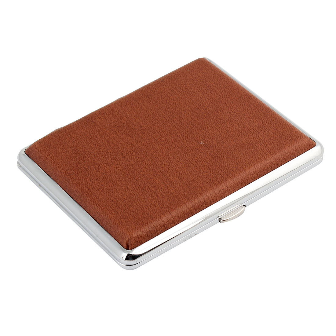 Faux Leather Choclate Color Square Shape Cigarette Cigar Case Box