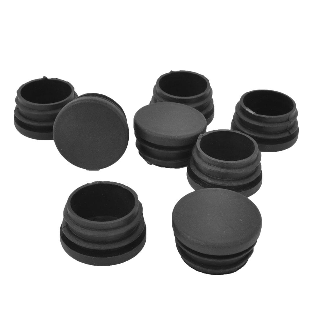 32mm Black Hard Plastic Tubing Tube Insert Blanking End Caps 8Pcs