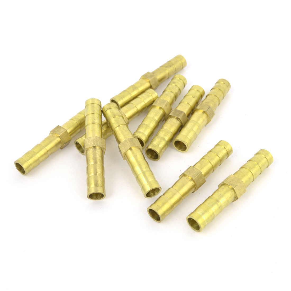 10pcs Brass 5mm Equal Straight Barb Fitting Adapter for Pneumatic Air Hose