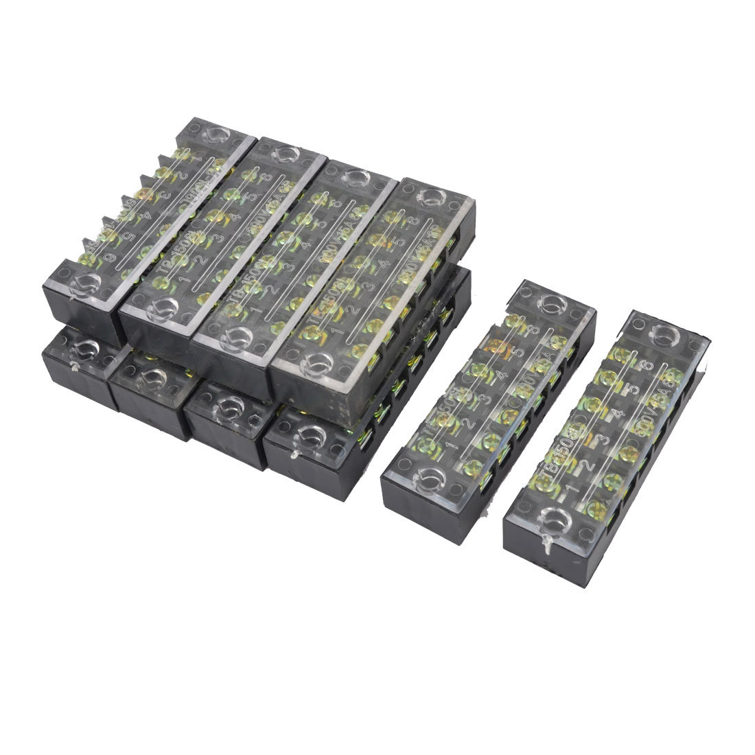 10pcs TB-1506 Two Row 6 Position Terminal Blocks Replacement 600V 15A