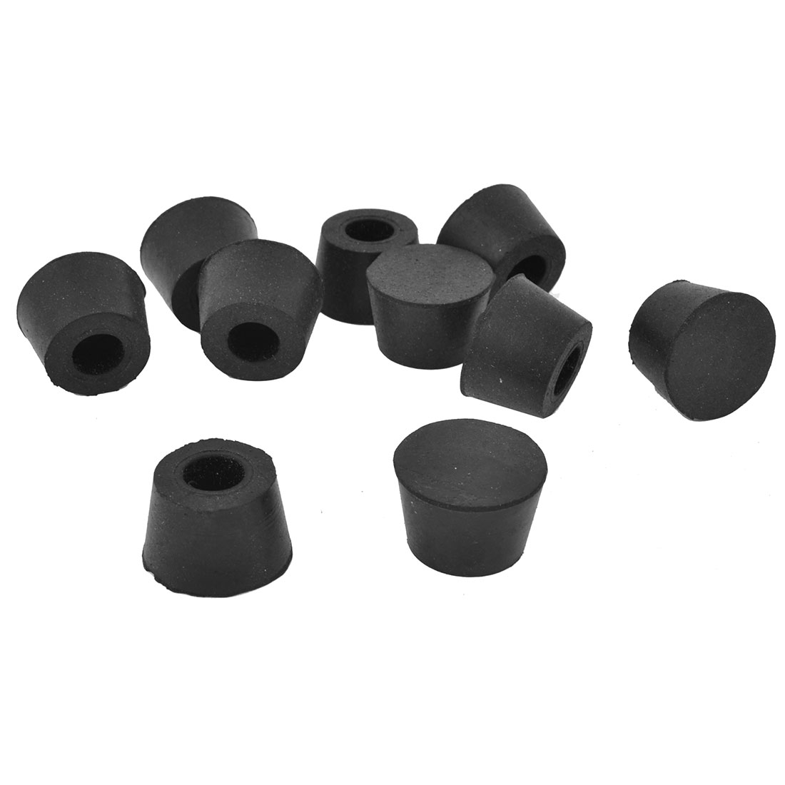 23mm Dia Black Rubber Table Chair Feet Pads Tile Floor Protectors 10pcs