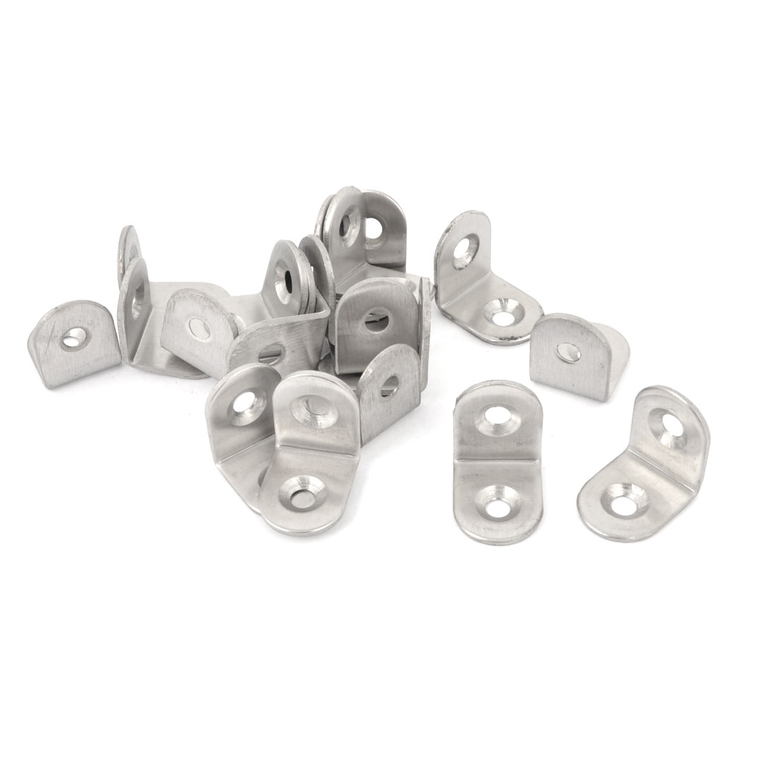 20Pcs L Shaped Shelf Support Corner Brace Right Angle Bracket 20mm x 20mm