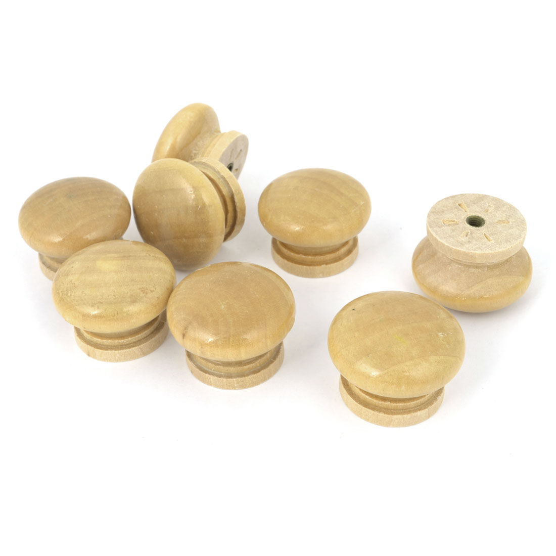 "Universal Replacement 1.3"" Dia Handgrip Wood Drawer Knobs 8Pcs"