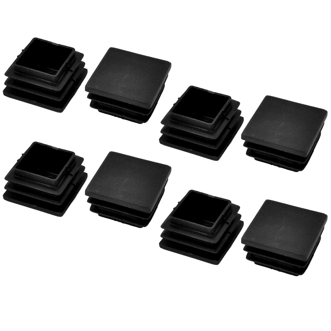 8 Pcs Black Square Blanking End Caps Tubing Tube Inserts 30mm x 30mm
