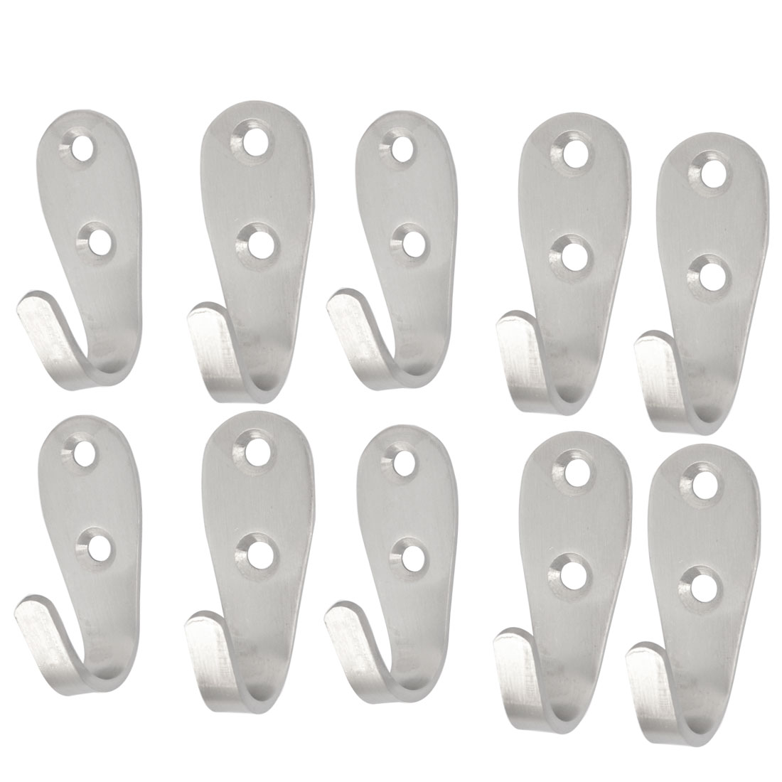 10Pcs Home Washroom Door Stainless Steel Fixed Towel Hanging Hook 2.1""